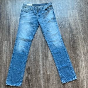 Hollister man slim straight button fly jeans